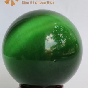 Mua quả cầu phong thủy đá mắt mèo xanh lục