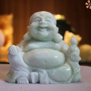 Phật Di Lặc Bằng Đá Trắng Xanh