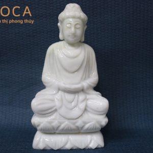 Tượng Phật bằng đá trắng xanh 1